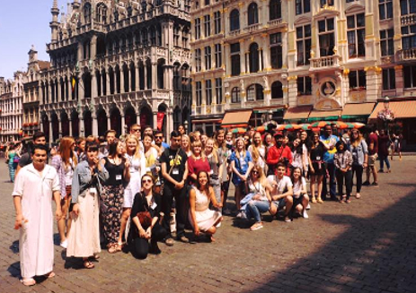 Participants on the Grand Place