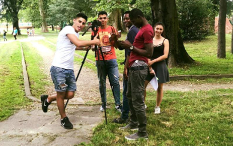 Participants shooting at La Villa Litta
