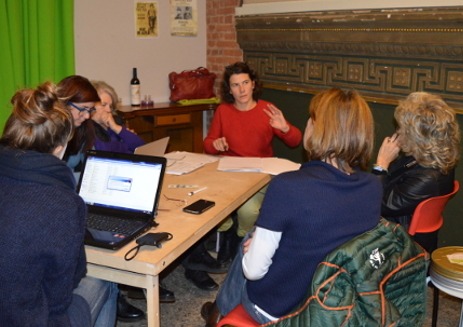 Meeting during the workshops